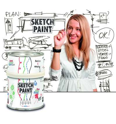 Vopsea Whiteboard Sketch Paint Alb Glossy 0.5 L